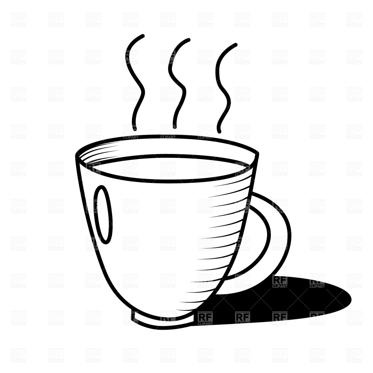 Coffee Clip Art Black And White.