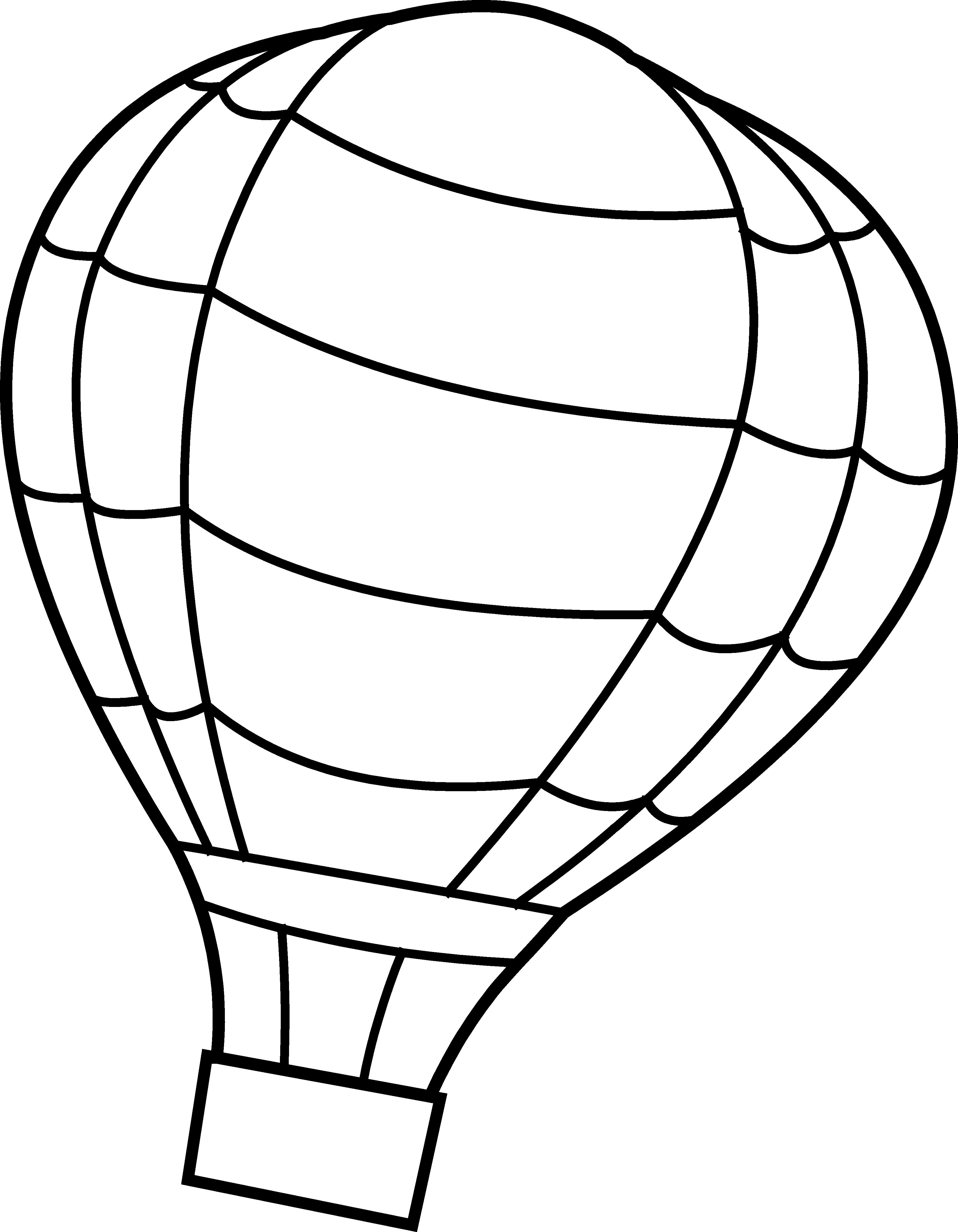 Black And White Hot Air Balloon Clipart.