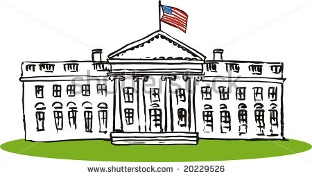 1056 White House free clipart.