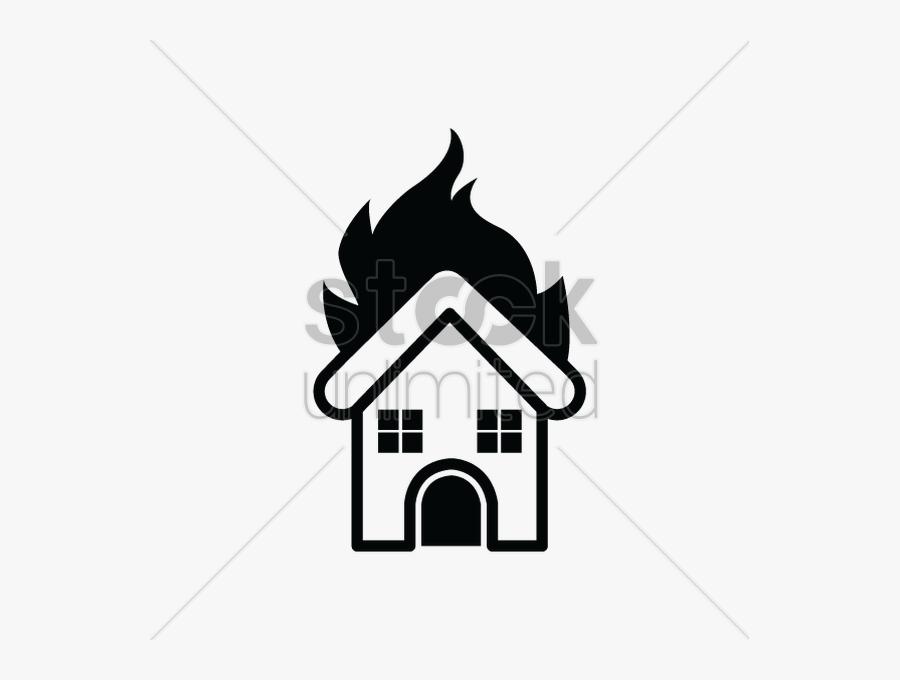 Silhouette Burning House Clipart House Clip Art.