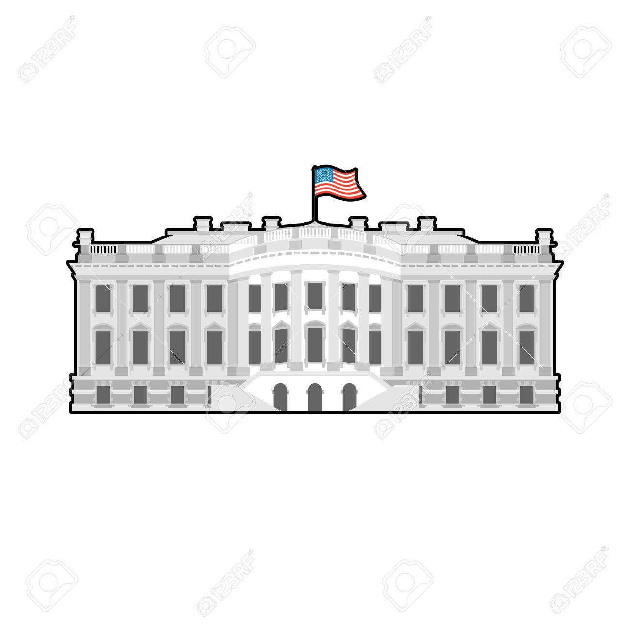 white house cartoon clipart #7