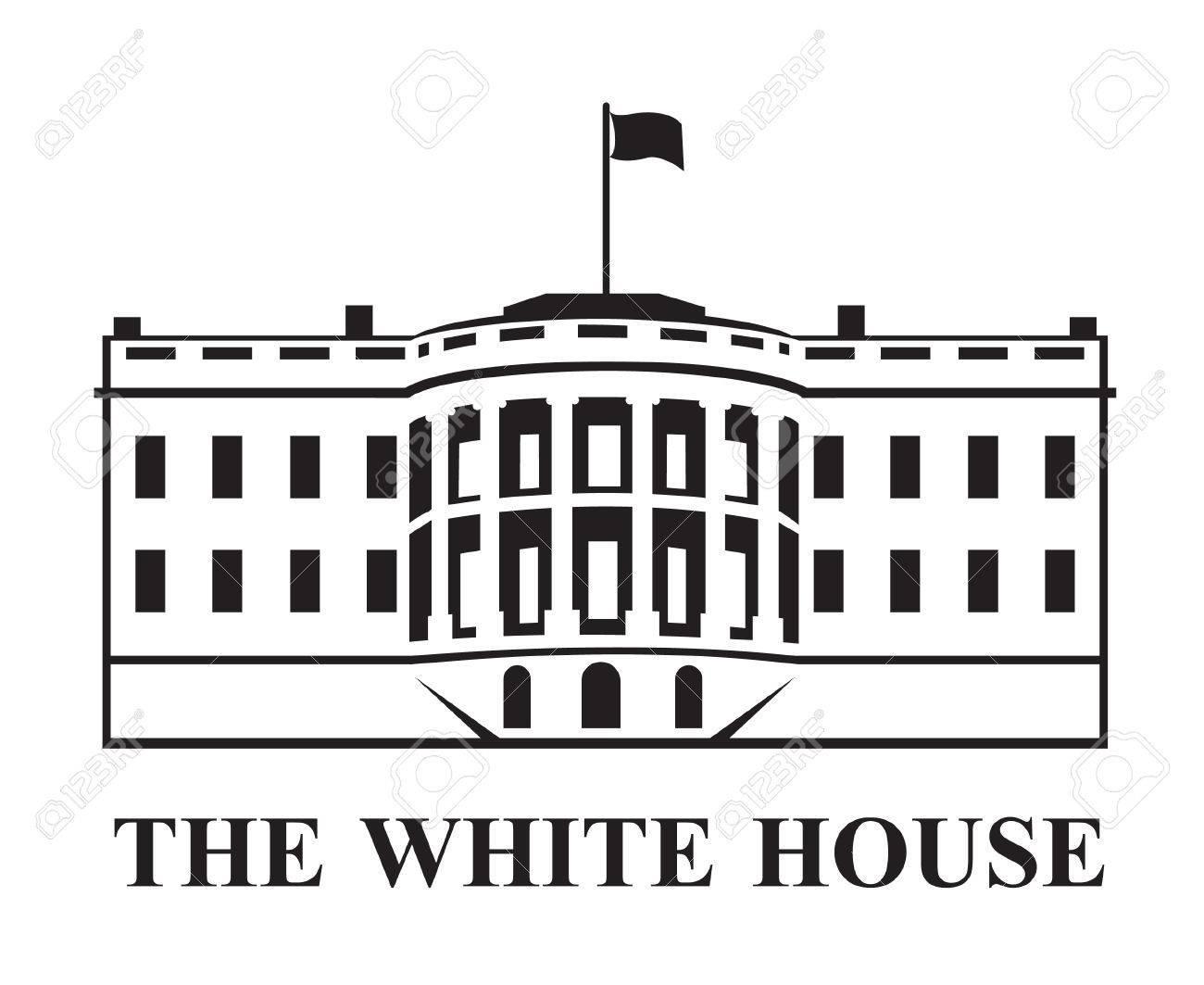 white house building icon in Washington DC.