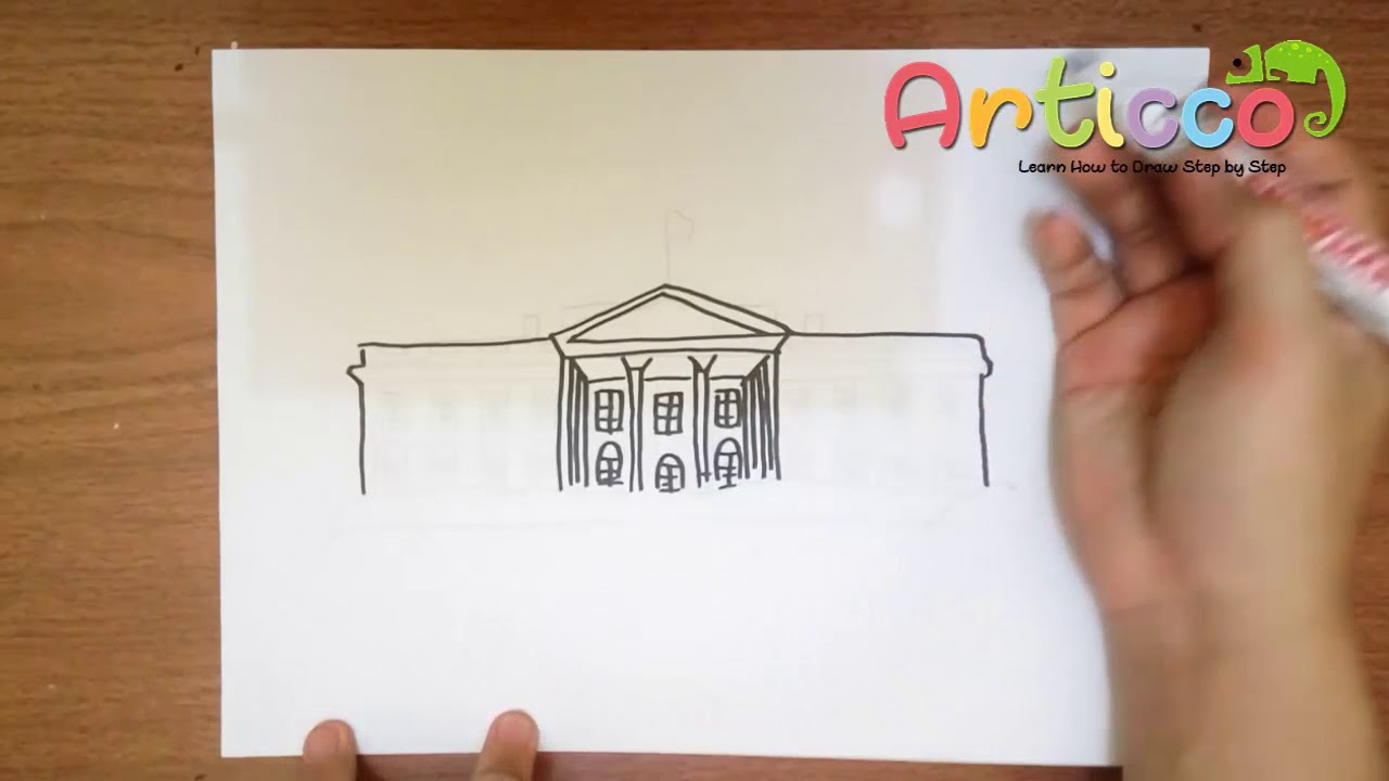 How to Draw the White House Step by Step.