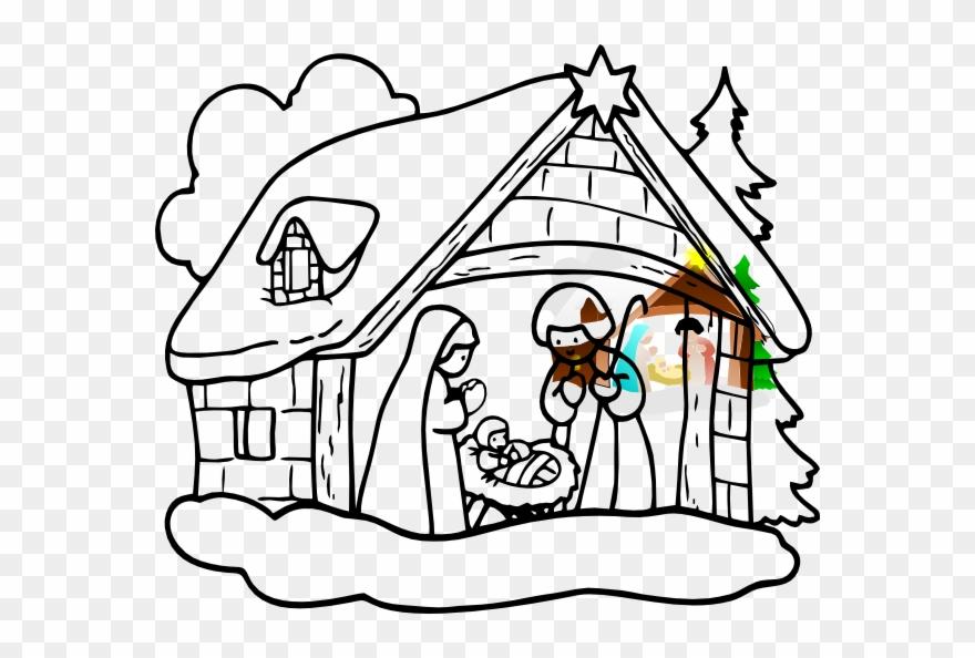 Manger House Clip Art.