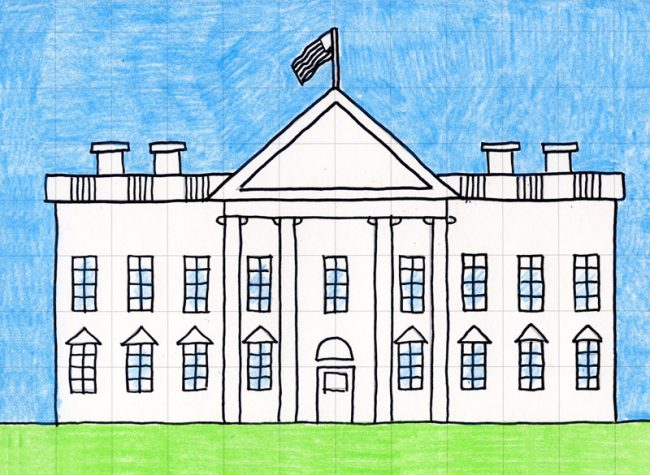 Draw the White House · Art Projects for Kids.