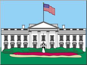 Clip Art: White House 1a Color I abcteach.com.