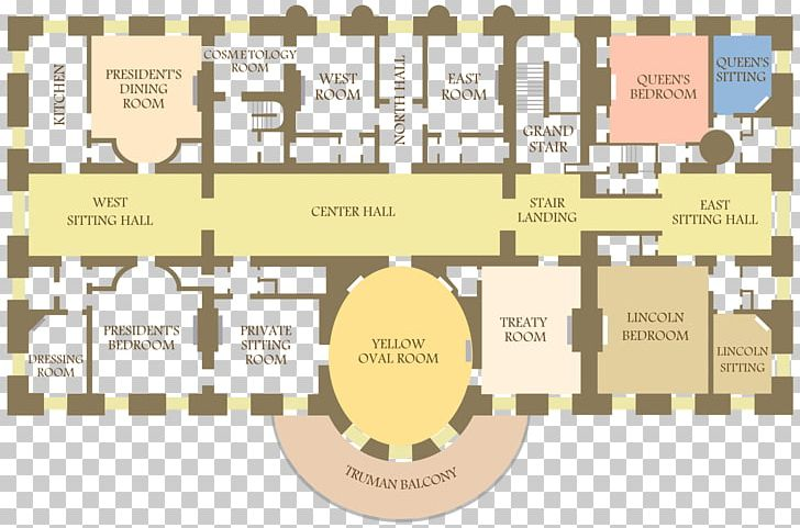 West Wing East Wing White House Basement Floor Plan PNG.