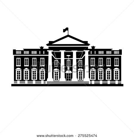 White House Washington DC Clip Art.