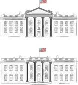 Clipart of White House vector k7619061.