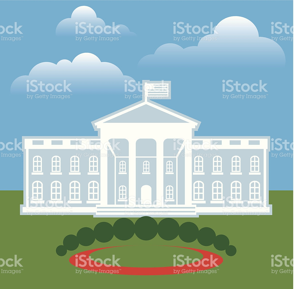 White House Front stock vector art 513289097.