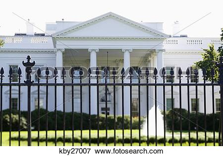 Picture of White House with fence in front, Washington, D.C..