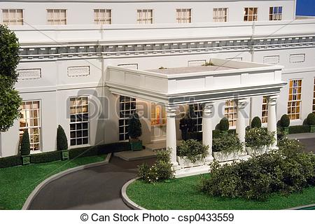 Stock Photographs of Mini white house.
