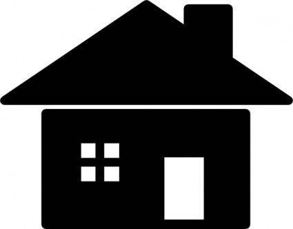 Purzen House Icon clip art free vector.