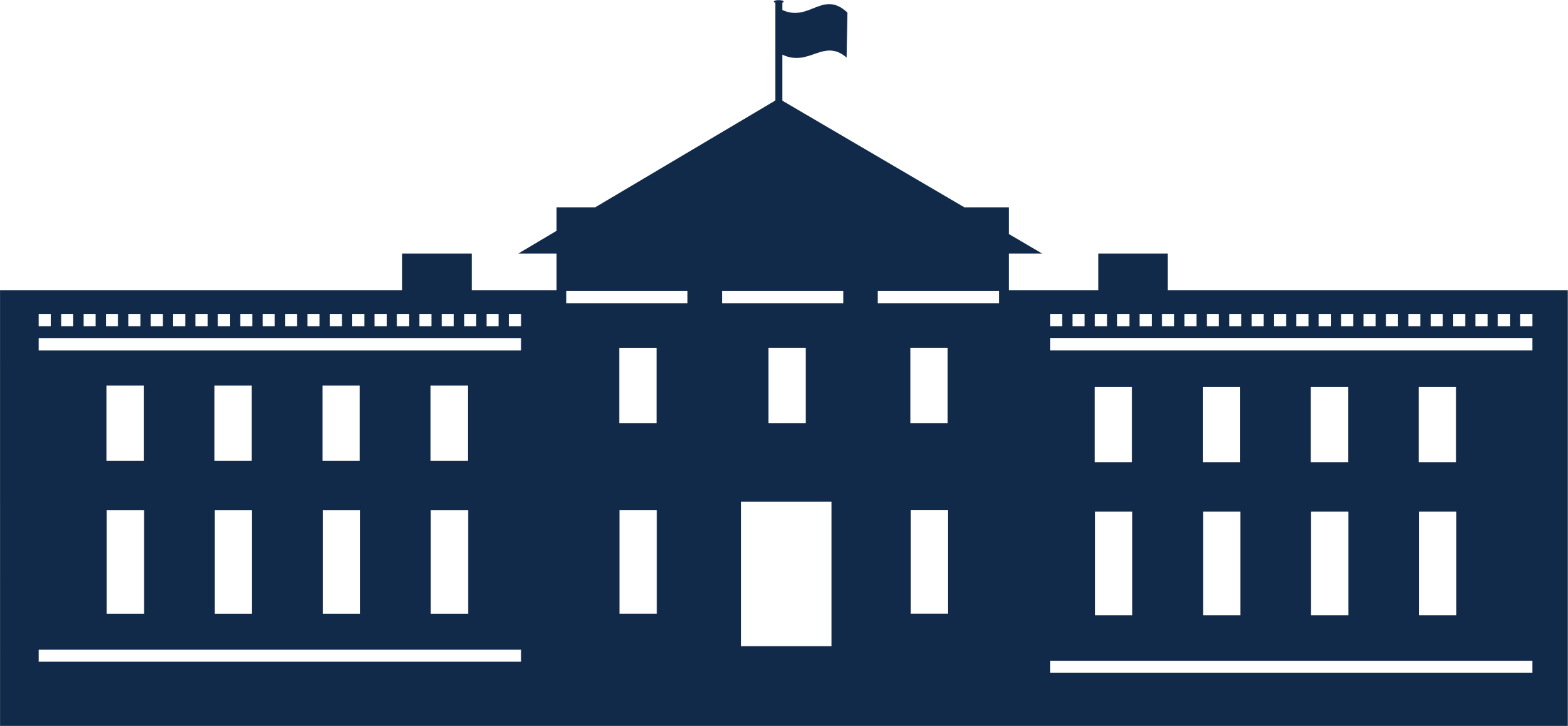 White House Silhouette Vector.