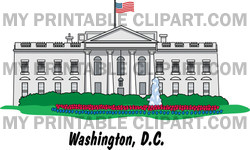 Clipart The White House Building In Washington DC.