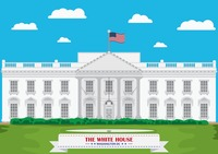 White house Vector Image.