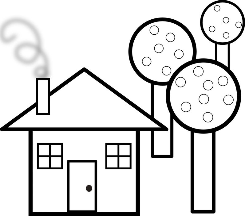 Clip Art Houses Cliparts Co Haunted House Clipart Black And White.