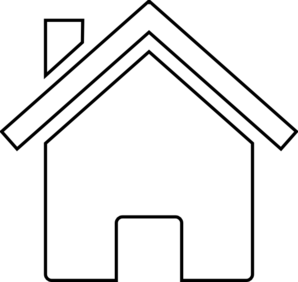House Black And White Clipart.