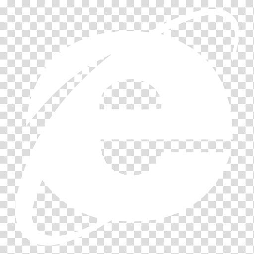 Black n White, Internet Explorer icon transparent background.