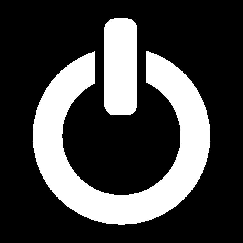 Free Clipart: White Clarity shutdown icon.