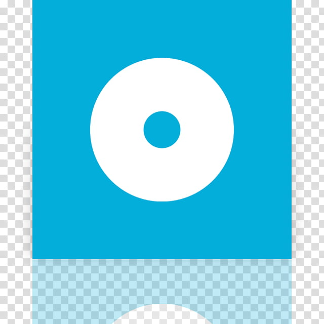 Metro UI Icon Set Icons, CD_mirror, round white and blue.