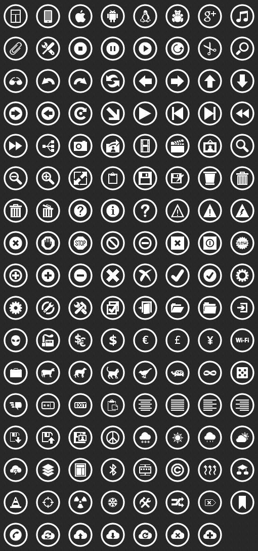 Free Windows Metro Icons.