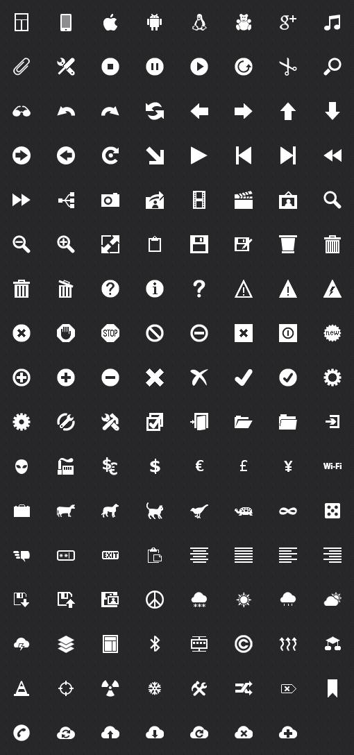 Free Metro icons.