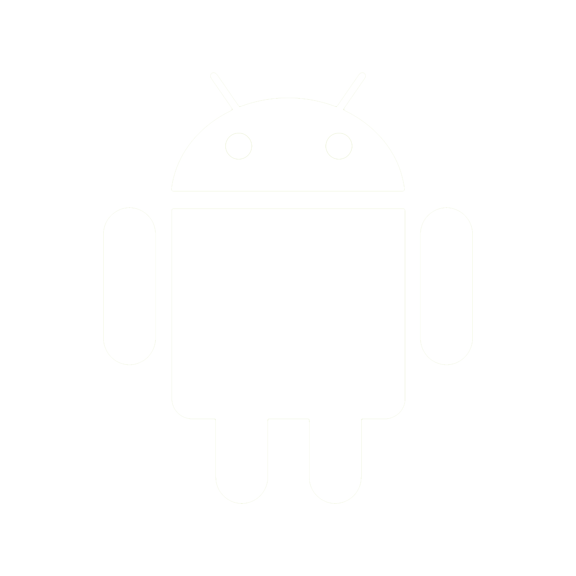 Android Icon White PNG.