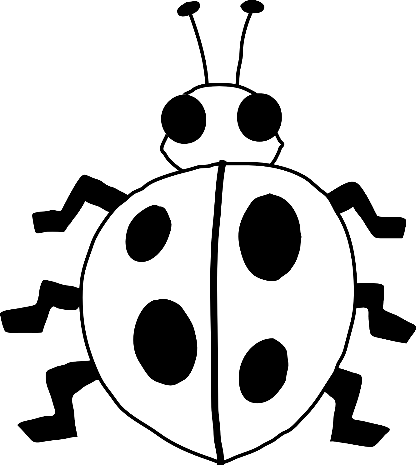 Cute insect clipart black and white.