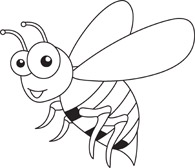 Clipart insects black and white.