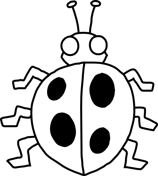 Black And White Insect Clipart.