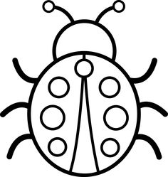 Clip Art Black And White Bug Clipart.