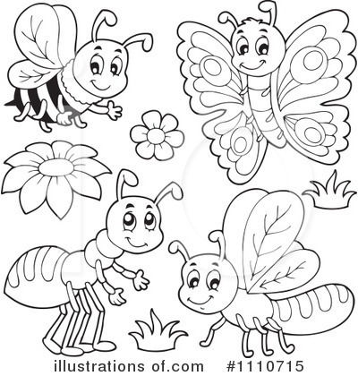 Insects Clipart Black And White.