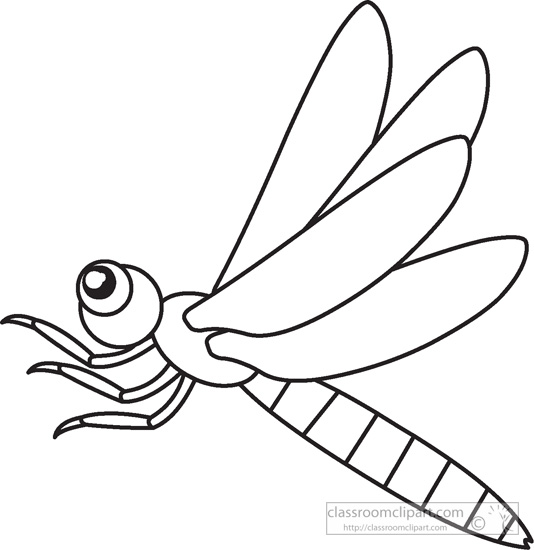 Cute Insects Clipart Black And White.