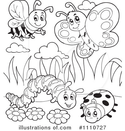 Insect clipart black and white.