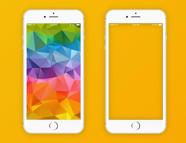 Vector iPhone 6 White.