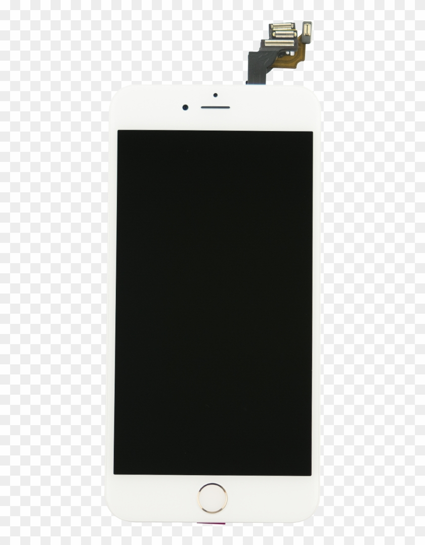 Iphone 6 Plus White/silver Display Assembly With Front, HD Png.