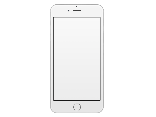 Frontal Mockup of a White iPhone 6 Plus Over a Transparent Background a11471.