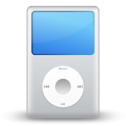White Apple IPod Icon, PNG ClipArt Image.