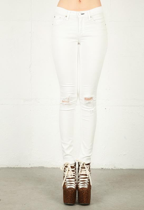 White Ripped Skinny Jeans For Girls Rag Bone Ripped White.