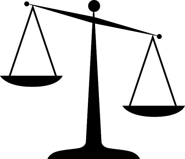 Free vector graphic: Justice, Silhouette, Scales, Law.