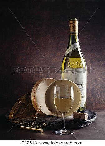 Stock Photo of White wine from Jura 012513.