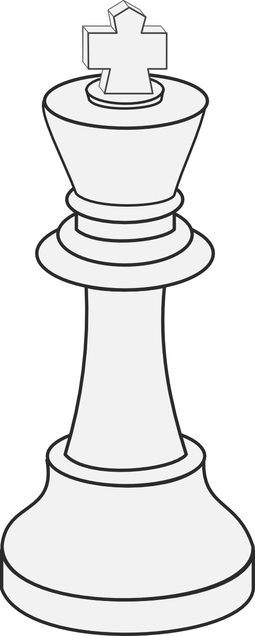 White King Chess Clipart.
