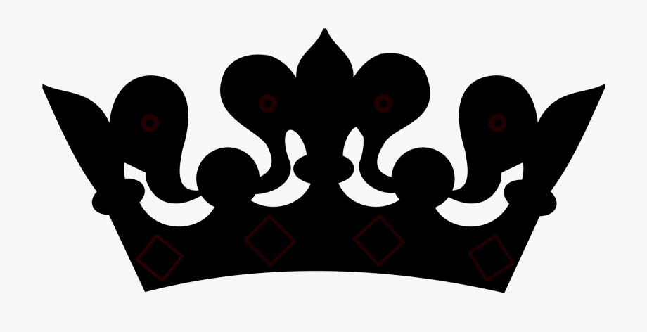 Crown Clipart Black And White No Background.