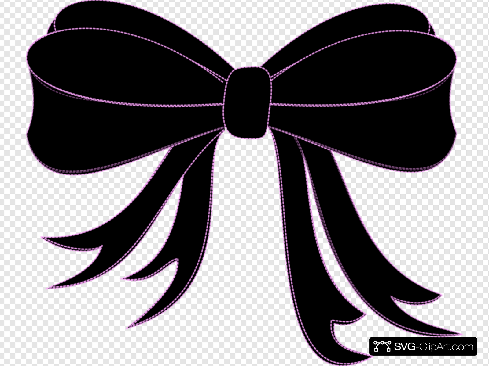 Black Bow Ribbon Clip art, Icon and SVG.