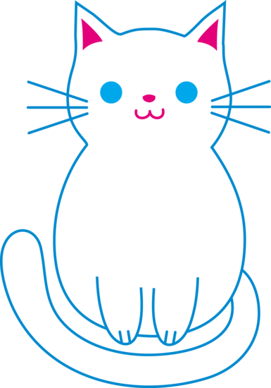 Cute white cats clipart.