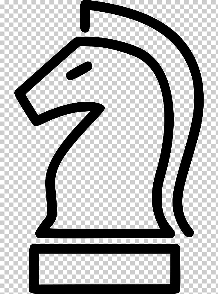 Line White , knight chess piece PNG clipart.