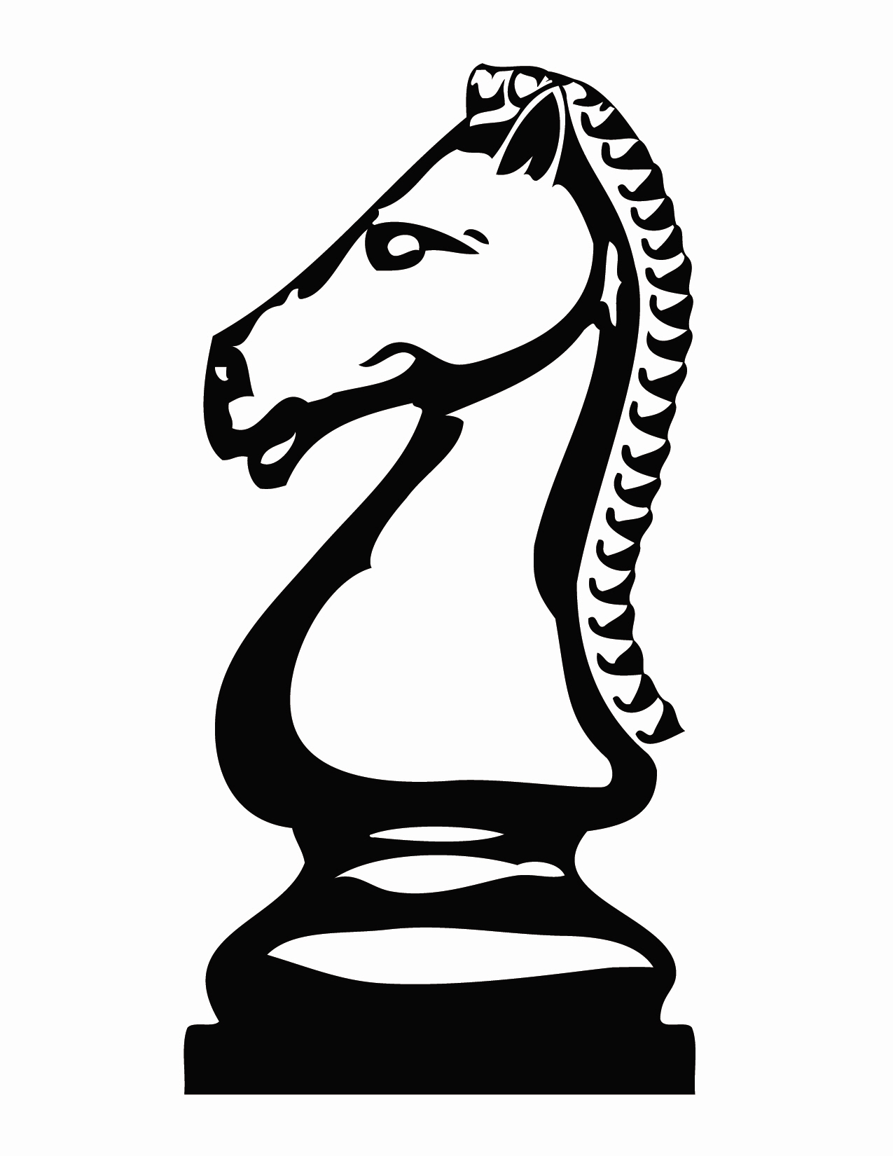 Chess clipart white knight, Chess white knight Transparent.
