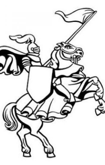 Knight On Horse Clipart Black And White.