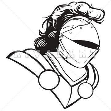 Black And White Clipart Knight.
